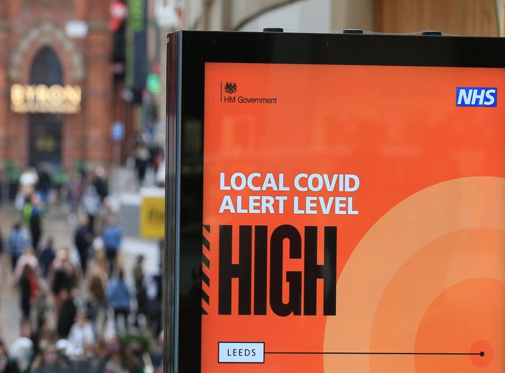 Local covid alert level sign