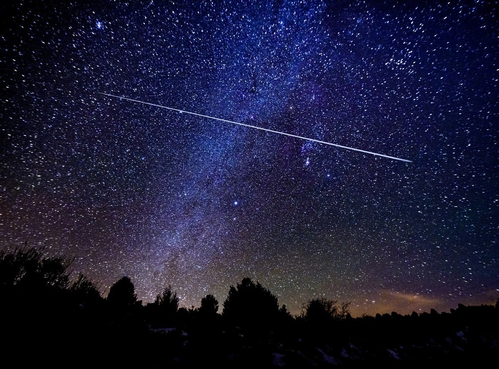 <p>Up to 120 meteors from the Geminid shower will light up the night's sky in the UK on Sunday</p>