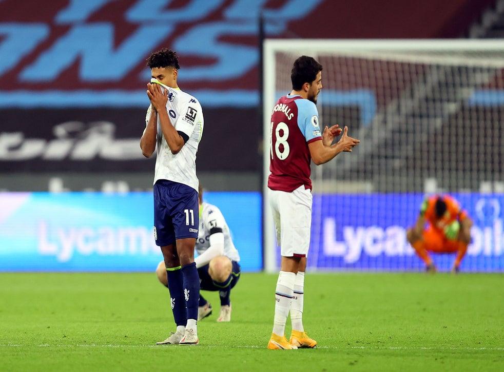 West Ham Cling On To Beat Aston Villa After Var Chalks Off Late Ollie Watkins Equaliser The Independent