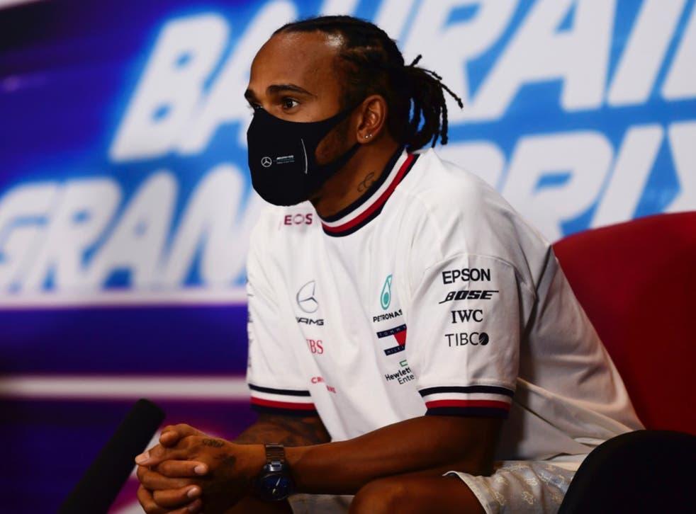 <p>Hamilton ganó el domingo el Gran Premio de Baréin</p>