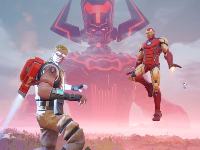 Un fotograma del evento Galactus en Fortnite