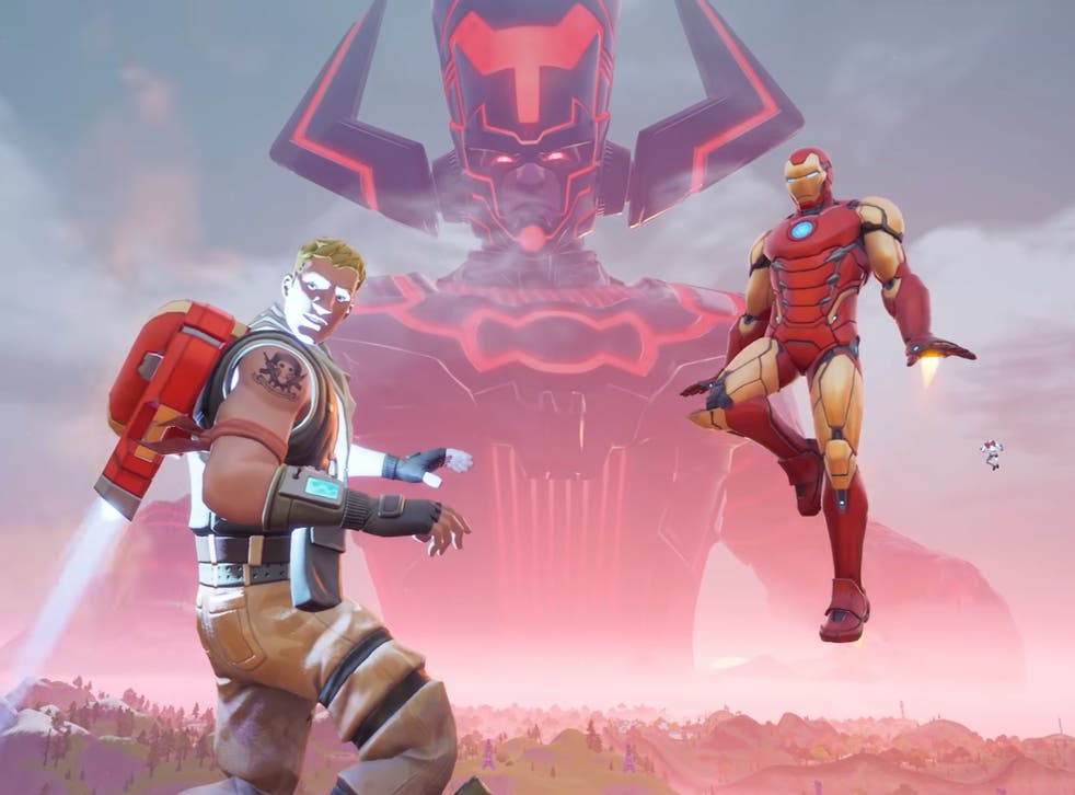 A still from the Galactus event in Fortnite