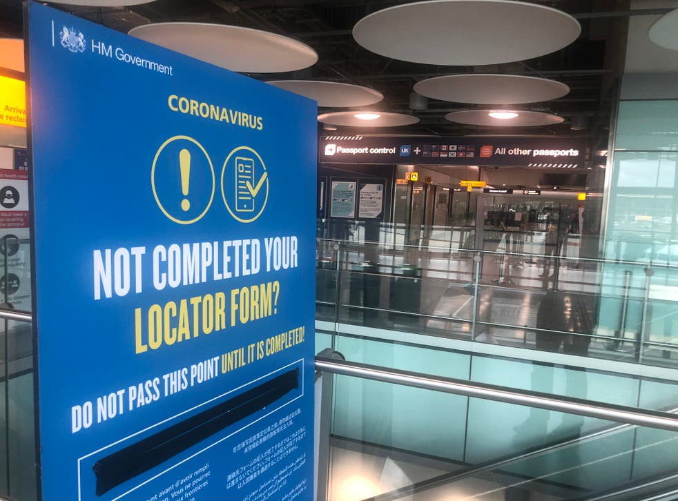 Check point: Passenger Locator Forms are regarded as valuable
