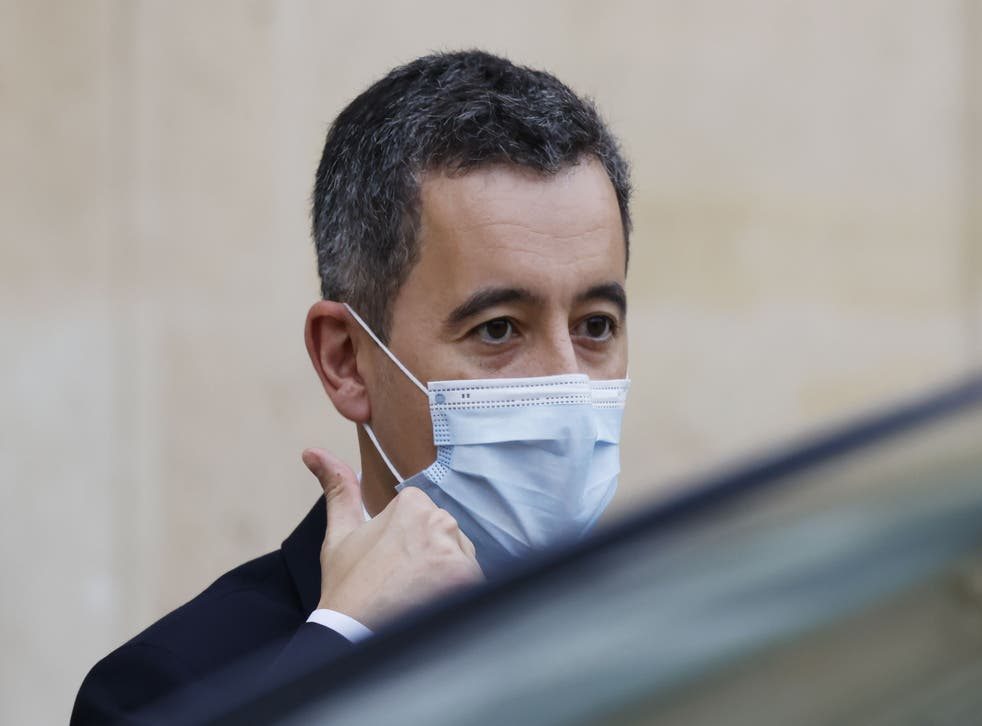French interior minister Gerald Darmanin pictured in Paris on 2 December, 2020.