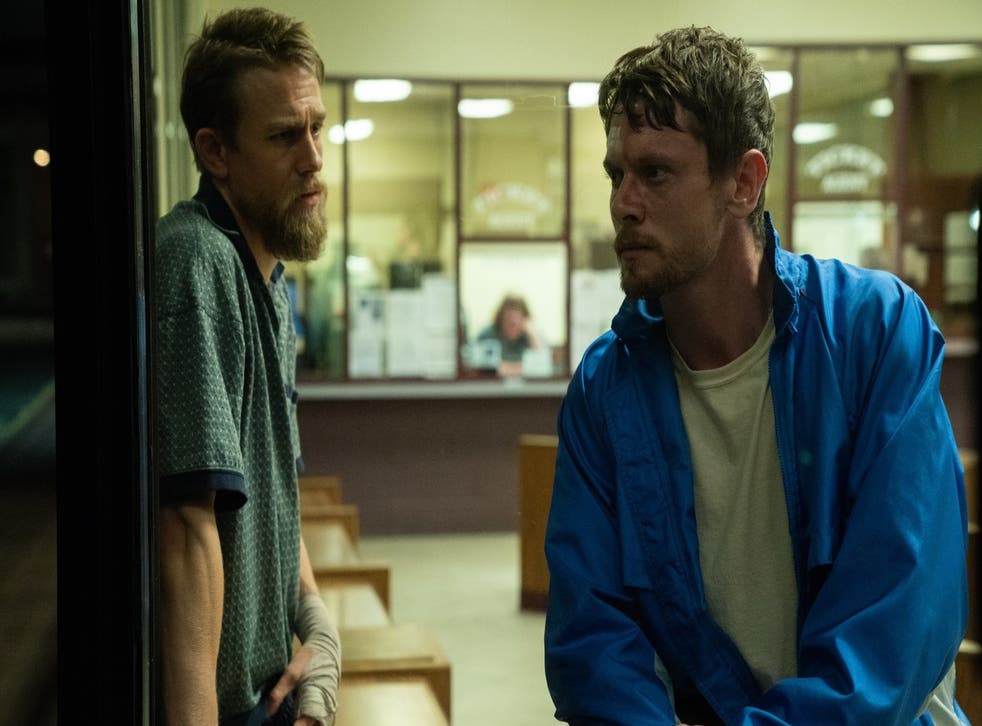 <p>Bruiser losers: Lion Kaminski (Jack O'Connell, left) and his older brother Stan (Charlie Hunnam)</p>