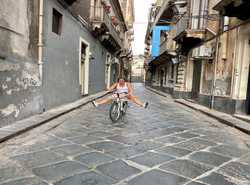 Ella living la dolce vita in Sicily