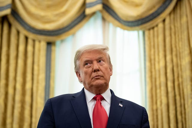 <p>Donald Trump, pictured on Friday, is being sued by 20 plaintiffs over an alleged fraud scheme involving thousands of tenants in apartment buildings built by his father</p>