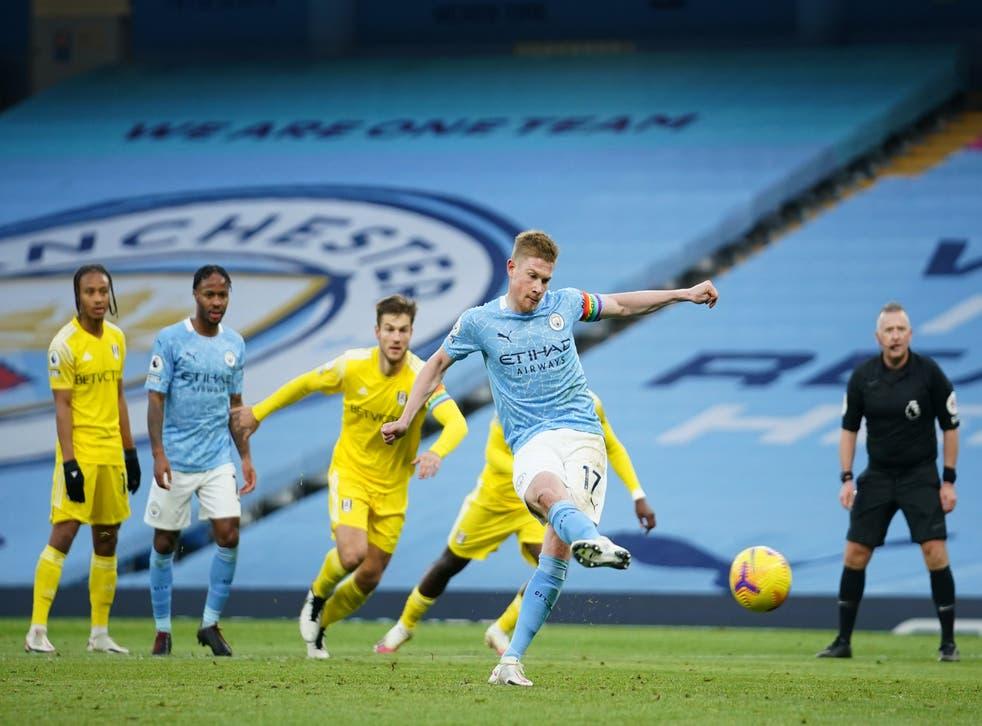 Kevin De Bruyne convierte desde el punto de penalti