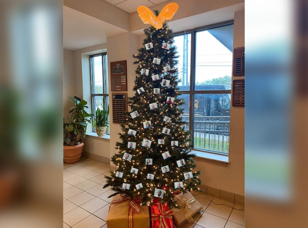 The tree posted to Facebook by the sheriff's department on Thursday 3 December 2020