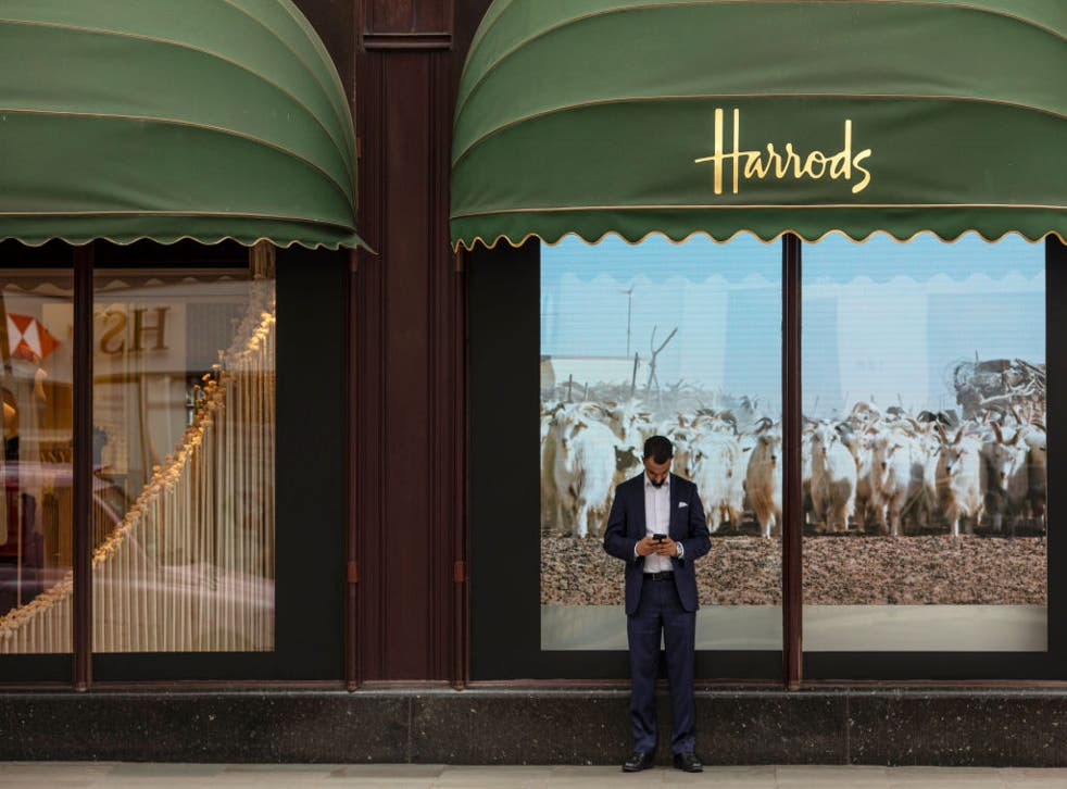 <p>Four were arrested over the weekend after trying to get into Harrods</p>