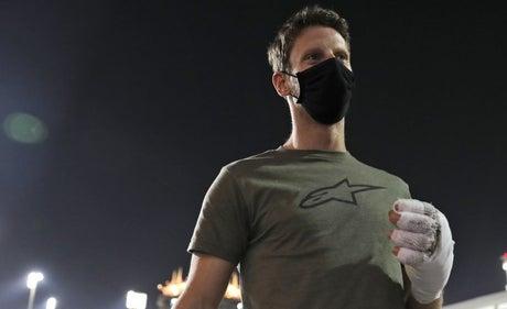 Romain Grosjean posts injury update six weeks after Bahrain Grand Prix crash