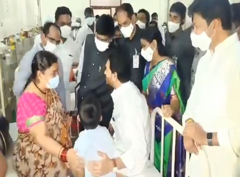 <p>Andhra Pradesh chief minister Jaganmohan Reddy visits hospitals in Eluru after mystery illness swept the town</p>