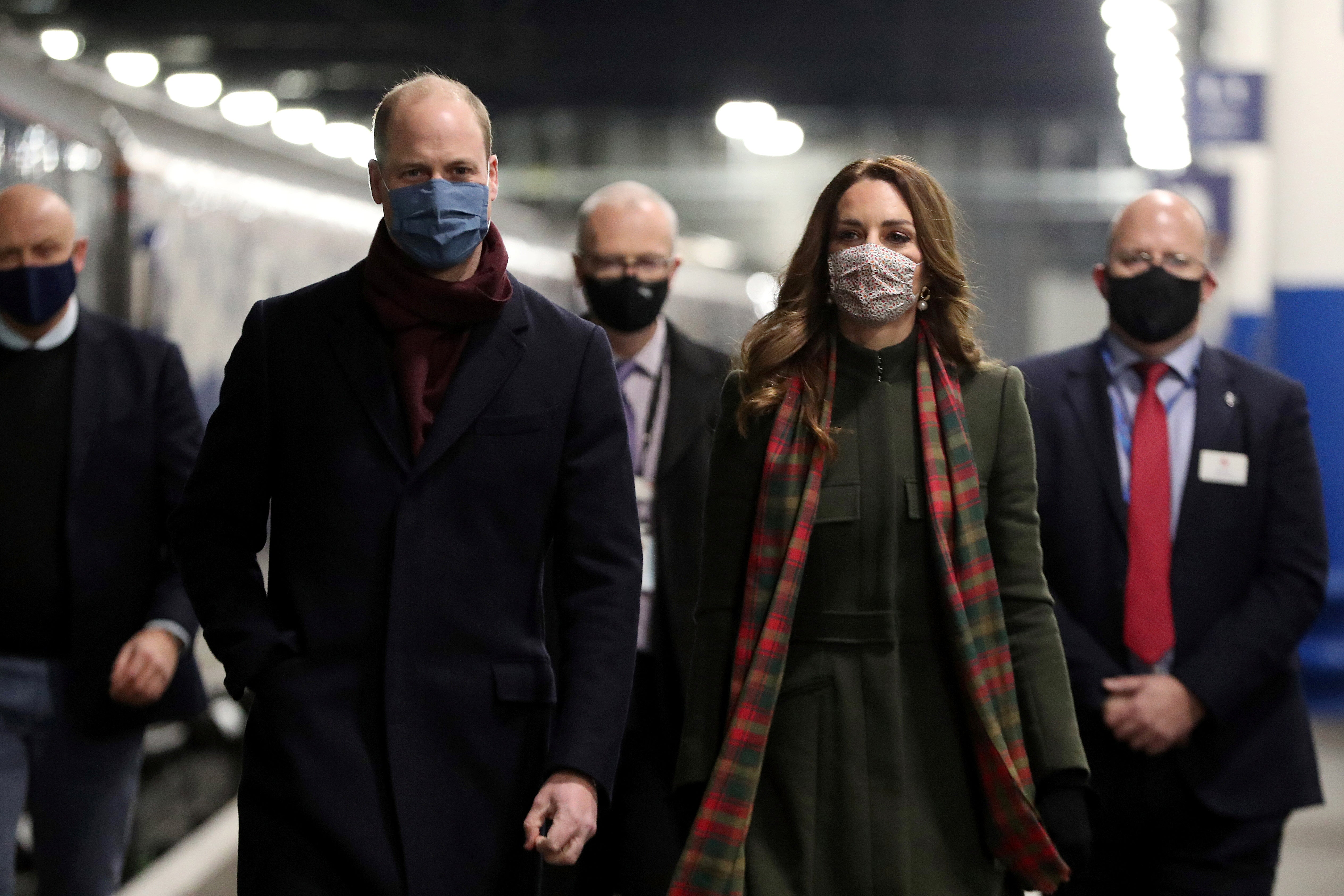 Kate Middleton and Prince William begin 1,200 mile train tour to thank key workers