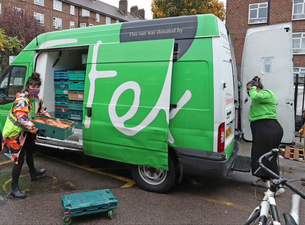 <p>The Felix Project van makes a delivery to the Concorde Youth Centre in Hackney</p>