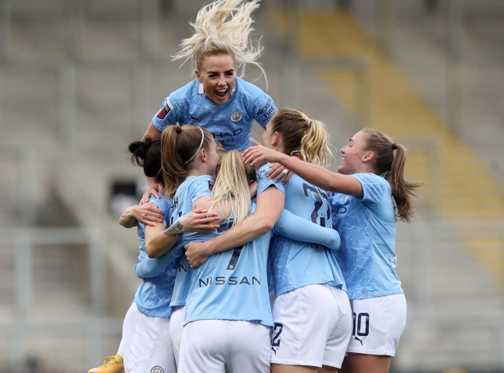 Manchester City are in action in the knockout stages of the Women's Champions League