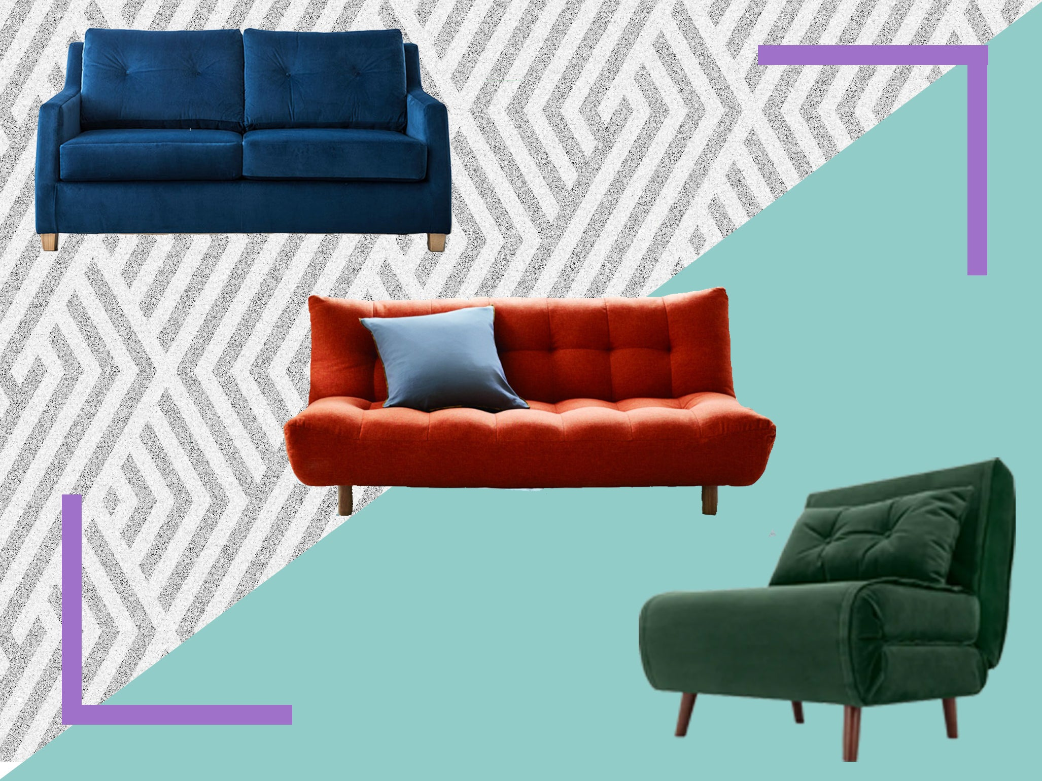 Luxury Futon Bed Wooden Frame Guest Sofa Bed Folding Mattress Single Green