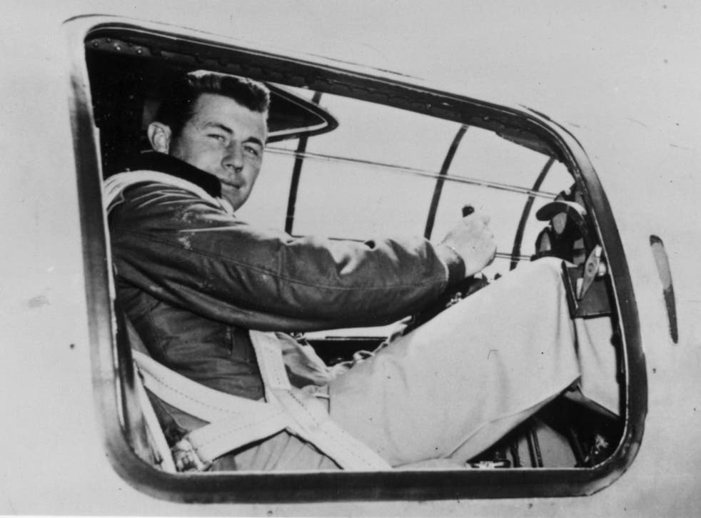 Yeager in the cockpit of an X-I supersonic research plane