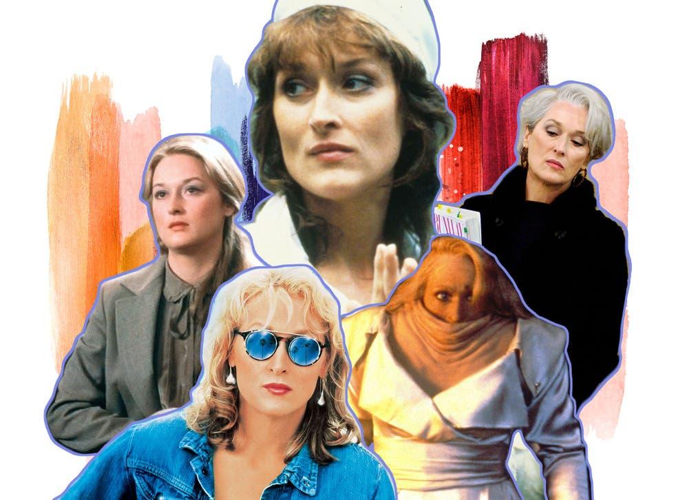 Meryl Streep in Kramer vs Kramer, Postcards from the Edge, Silkwood, Death Becomes Her and The Devil Wears Prada