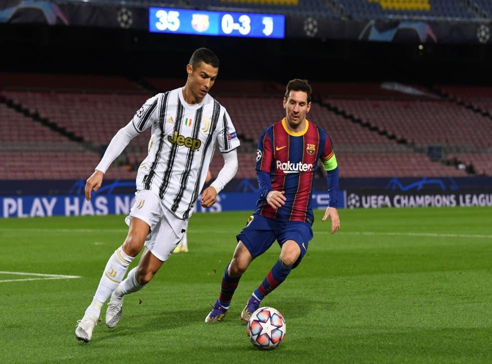 <p>Cristiano Ronaldo marcó dos goles en su regreso al Camp Nou</p>
