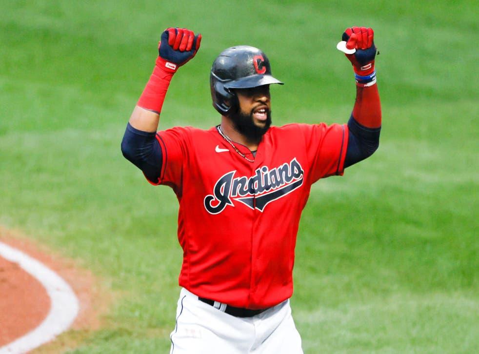 <p>Santana estuvo los últimos dos años con los Cleveland Indians</p>