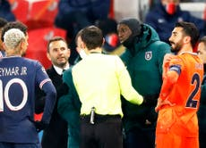 Erdogan accuses France of fuelling racism after PSG-Istanbul incident