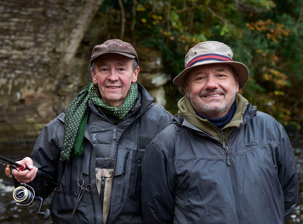 Paul Whitehouse and Bob Mortimer on the River Tees