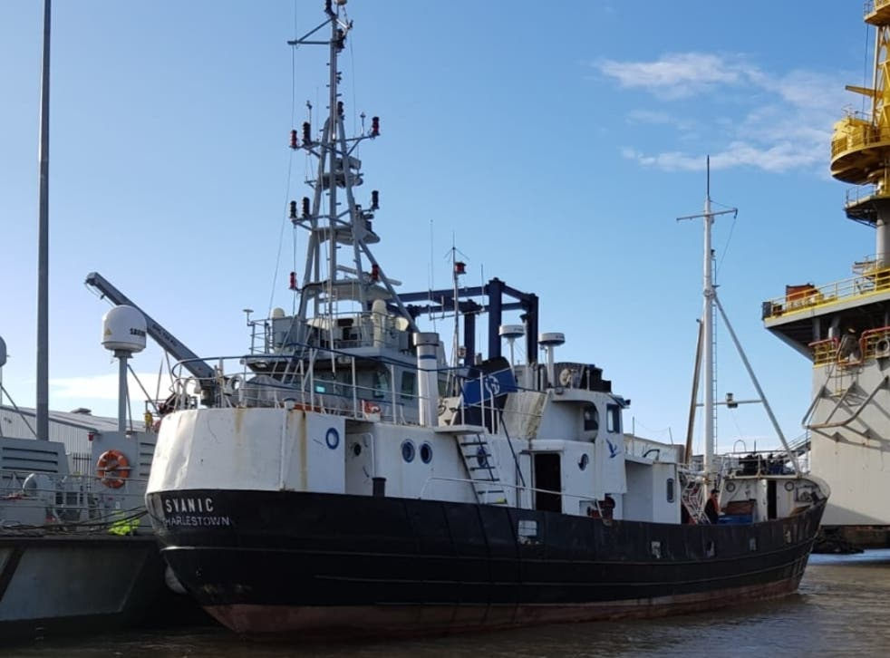 The fishing vessel was intercepted with 72 people on board on 17 November
