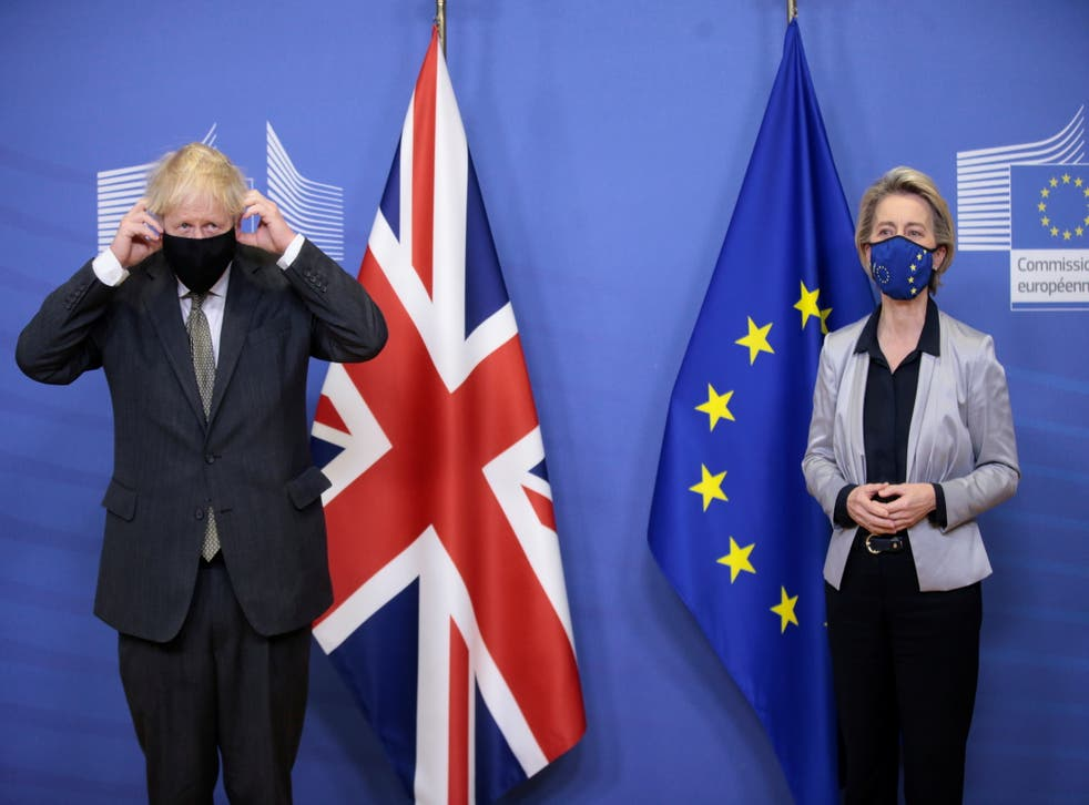 <p>Boris Johnson and Ursula von der Leyen, about to discover that significant differences remain, and to announce that they intend to keep talking</p>