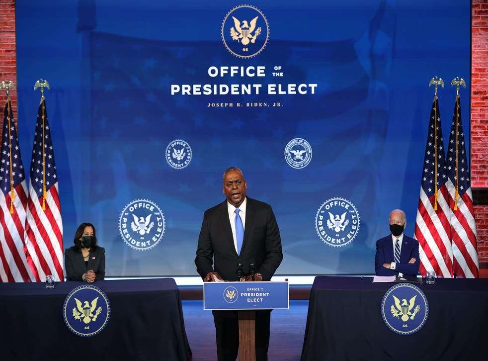 <p>Mr Biden said the retired former head of US Central Command was uniquely qualified &nbsp;</p>