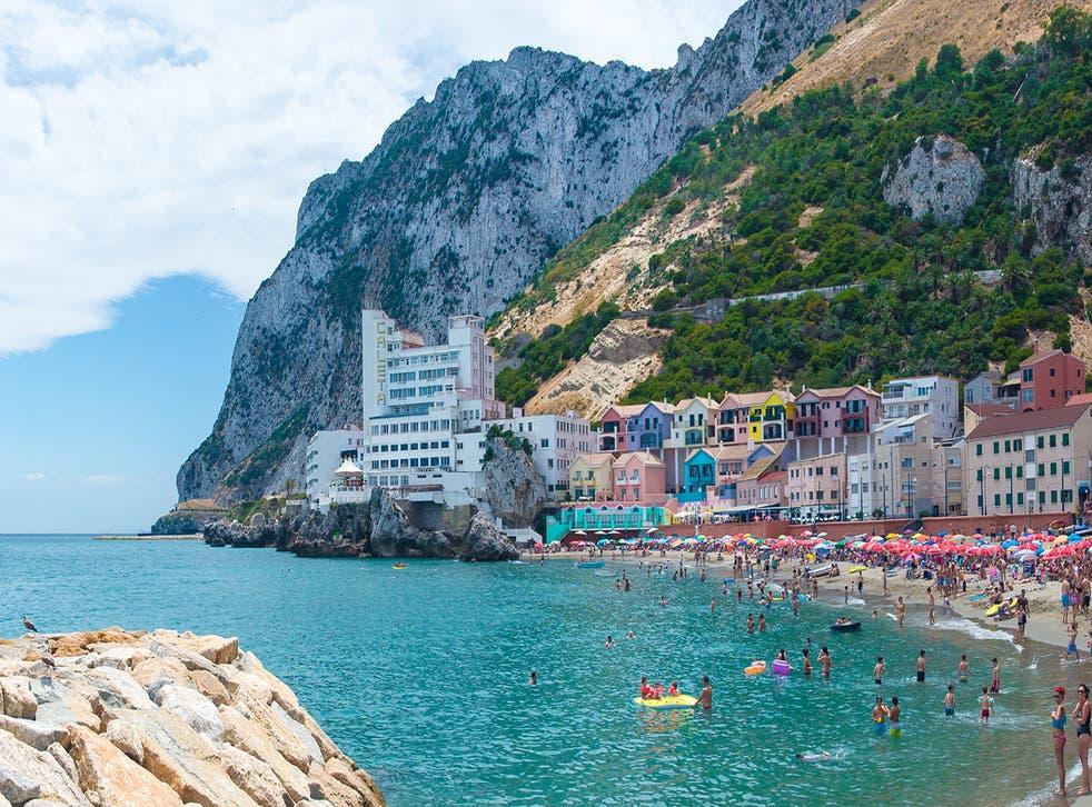 Village at the beach of Gibraltar
