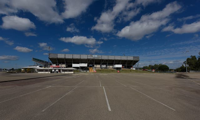 A general view of the  northern grandstand and carpark is seen at 1300 Smiles Stadium on June 12, 2016 in Townsville, Australia.