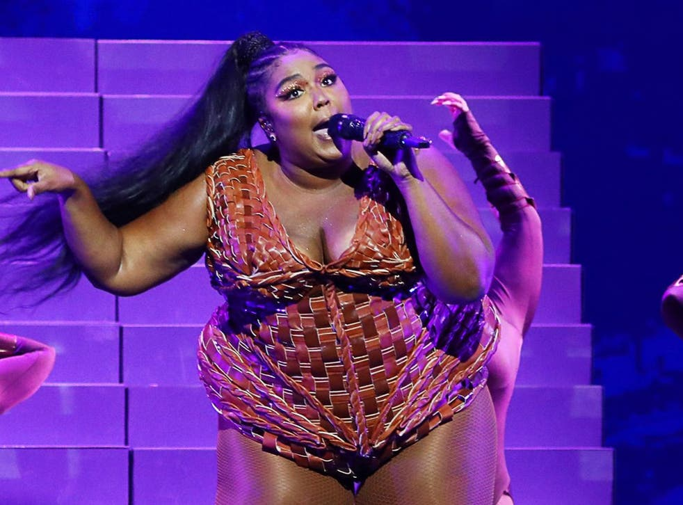 Lizzo performs at the 40th Brit Awards in 2020