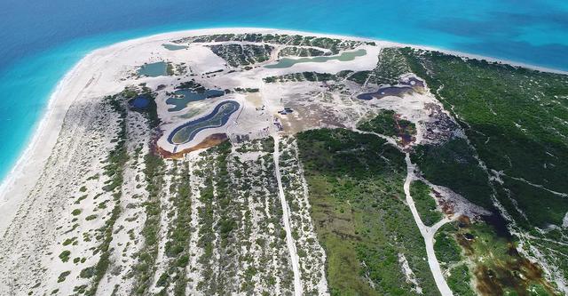 <p>Palmetto Point, fotografiado en octubre de 2020, donde Barbuda Ocean Club está en construcción</p>