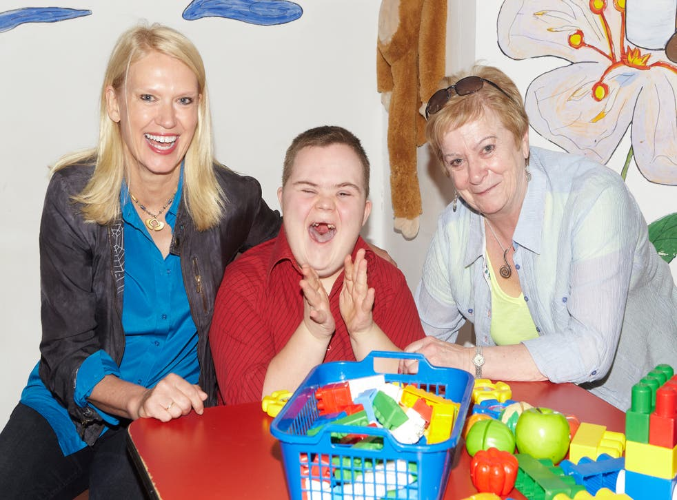 <p>Anneka and Monica McDaid in a therapy room at the orphanage</p>