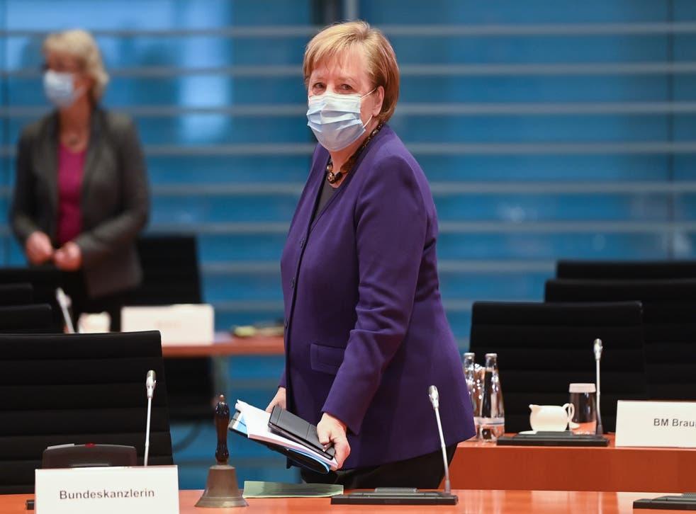 <p>The German chancellor, Angela Merkel</p>
