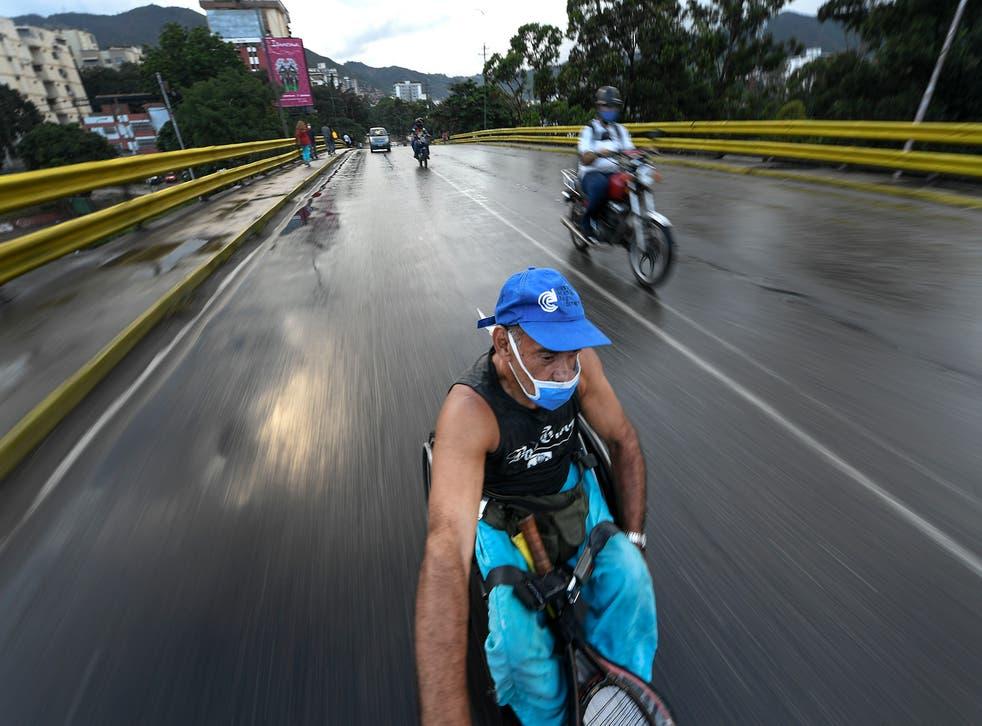 APTOPIX Venezuela Wheelchair Challenges