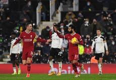 Premier League: Liverpool sufre para sacar un punto en casa del Fulham