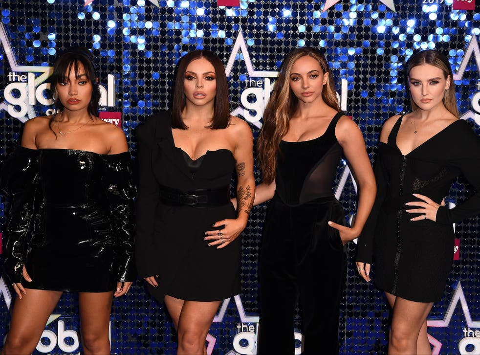 Jade Thirwall, Jesy Nelson, Leigh-Anne Pinnock and Perrie Edwards of Little Mix at the Global Awards on 7 March 2019 in London, England
