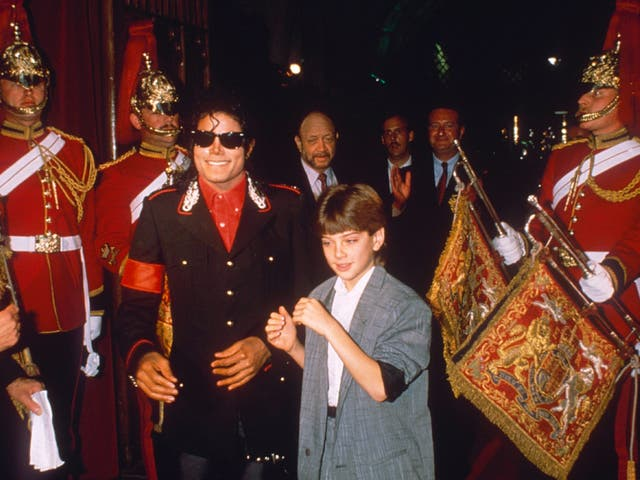 Michael Jackson and Jimmy Safechuck in 1988