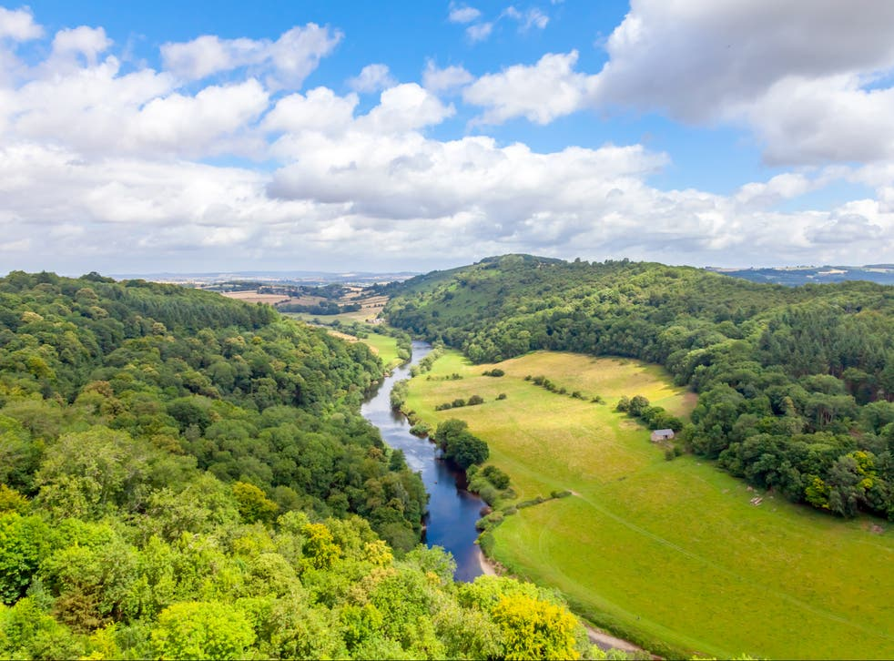 The River Wye at Symonds Yat in the Forest of Dean
