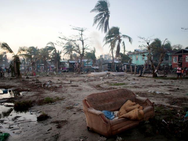 The aftermath of Hurricane Iota in Bilwi, Nicaragua November 27, 2020
