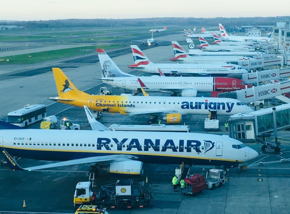 Happier times: Gatwick airport before the coronavirus pandemic