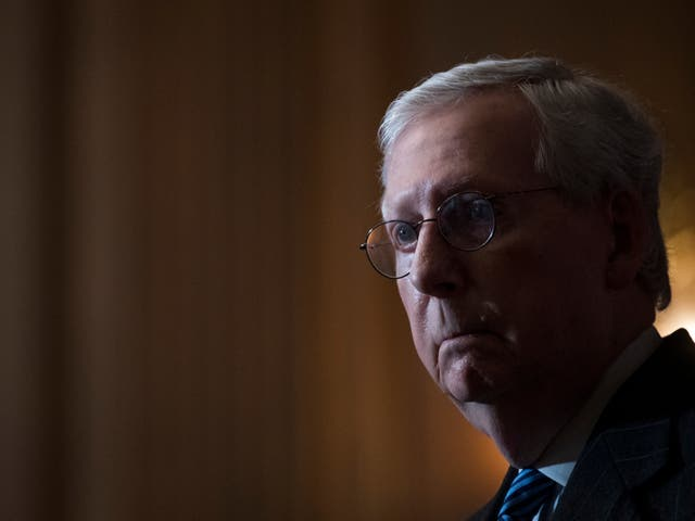 <p>Mitch McConnell, the Senate majority leader, is &nbsp; increasingly stepping away from his one-time partner, Donald Trump</p>