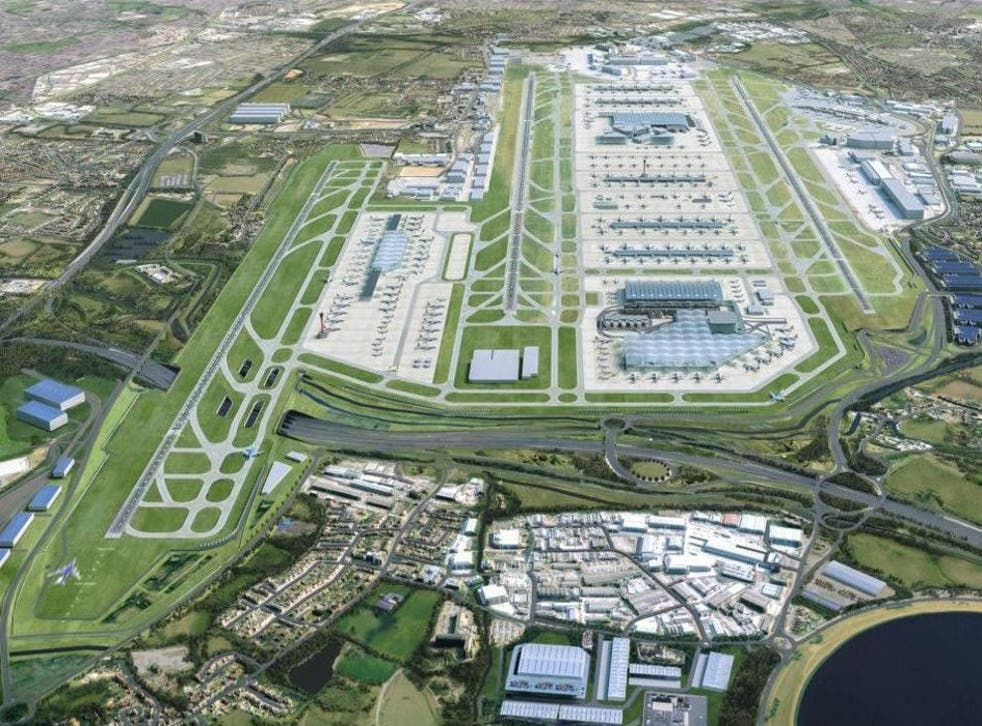 Dream destination? The proposed third runway at Heathrow, shown on the left