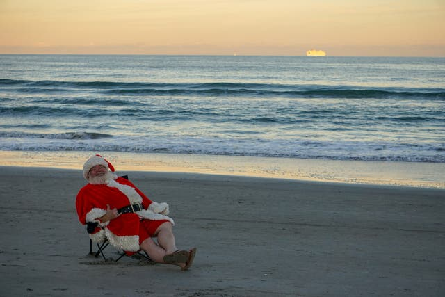 <p>Santa on a beach – what a summer Christmas could look like</p>