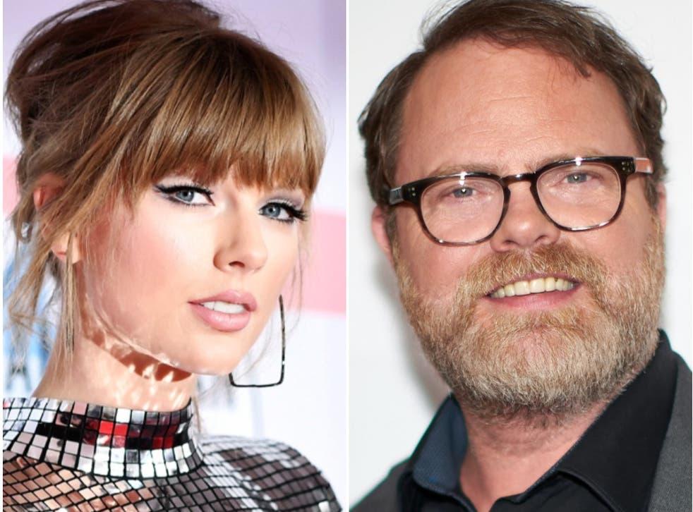 <p>Taylor Swift y Rainn Wilson de The Office tienen un divertido intercambio de mensajes en Twitter.</p>