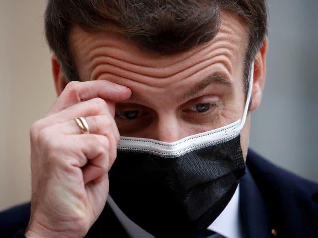 Emmanuel Macron, el presidente francés, dio positivo por coronavirus