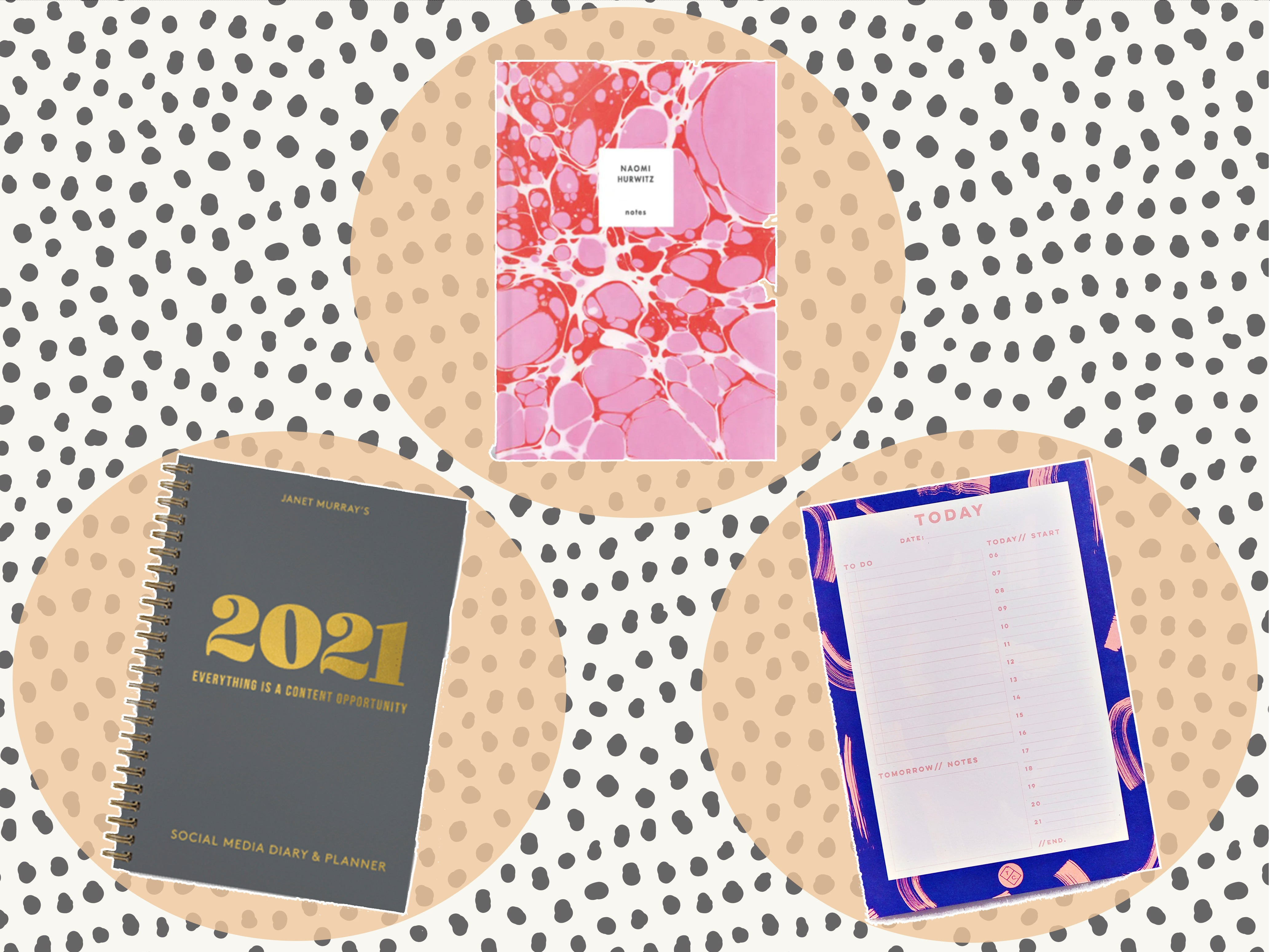 A4//A5 Hardback 2021 Diary Day//Week a Page Organiser Office Diary Planner Daily