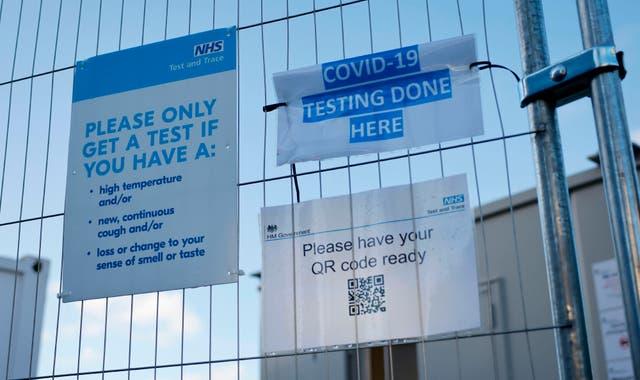 A coronavirus testing centre in London