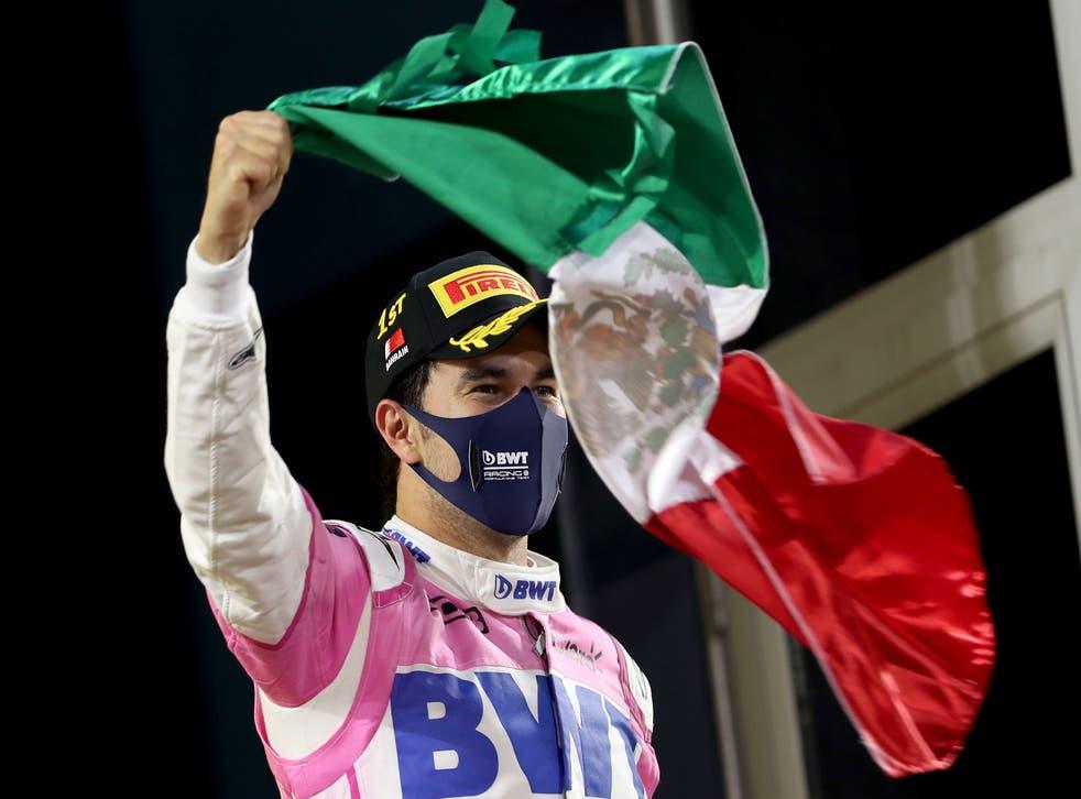 <p>La victoria de Pérez en el Gran Premio de Sakhir fue clave para que llegara a Red Bull</p>